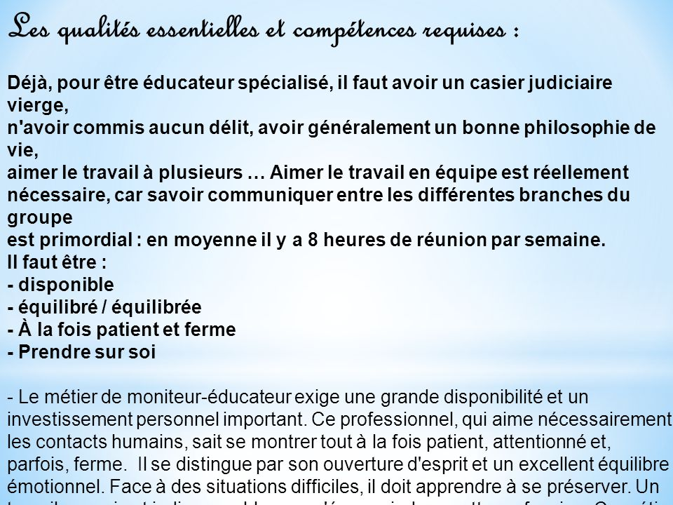 casier judiciaire educateur specialise