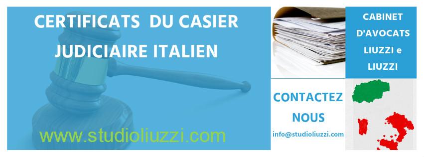casier judiciaire en italien