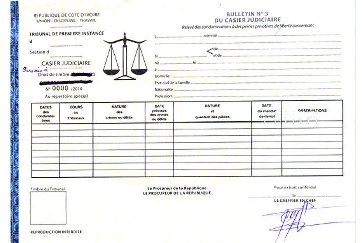casier judiciaire f