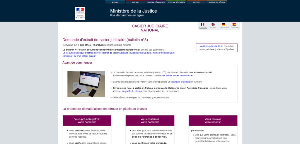 casier judiciaire hors france