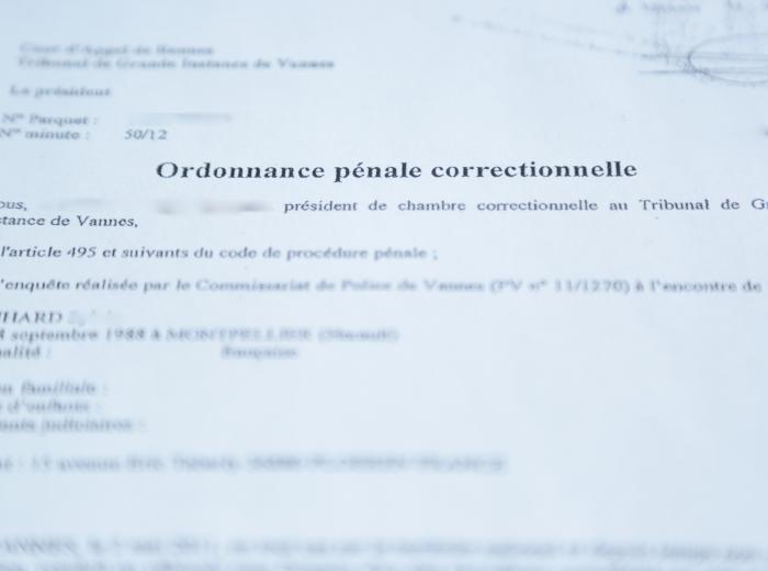 casier judiciaire ordonnance penale