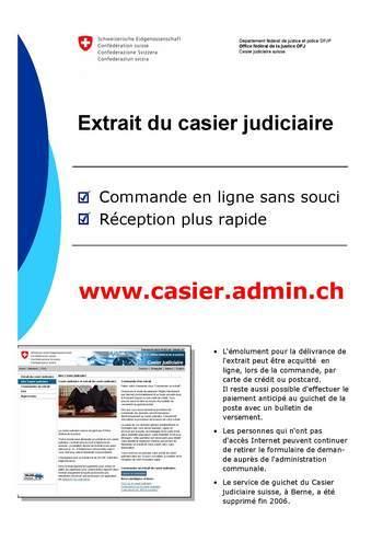 casier judiciaire suisse poste