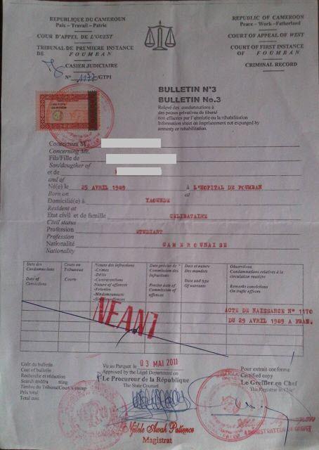 demande casier judiciaire algerie
