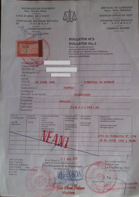 demande casier judiciaire au maroc