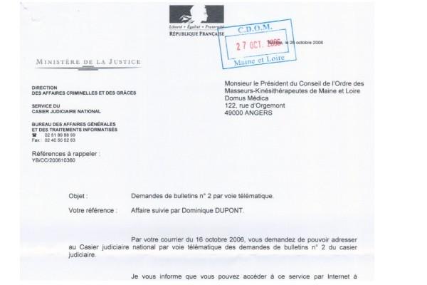 demande casier judiciaire b2 en ligne