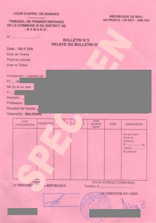 demande casier judiciaire n 3 par courrier