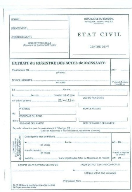 demande casier judiciaire senegal
