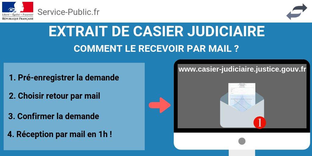 demande casier judiciaire service public