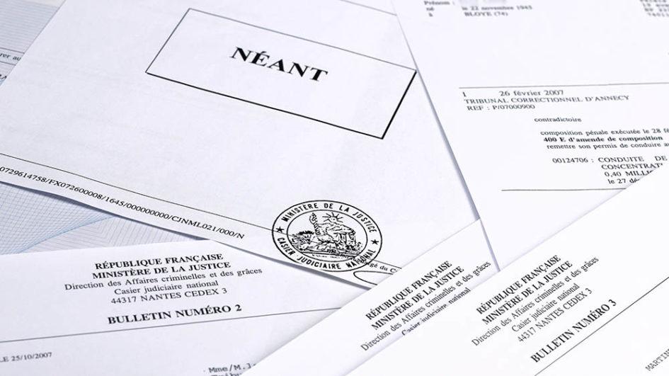 demande extrait casier judiciaire bulletin n 2