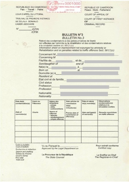 demande extrait casier judiciaire n 3 luxembourg
