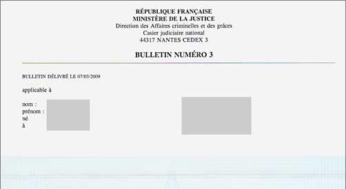 demande extrait casier judiciaire par mail