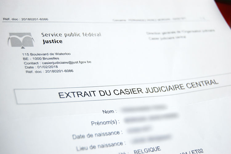 extrait casier judiciaire 596.1