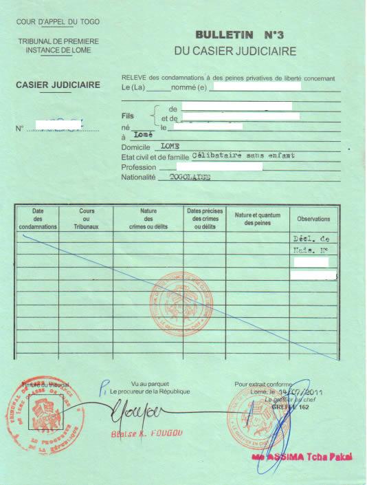 extrait casier judiciaire luxembourg par mail