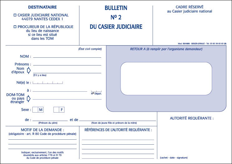casier judiciaire acquisition