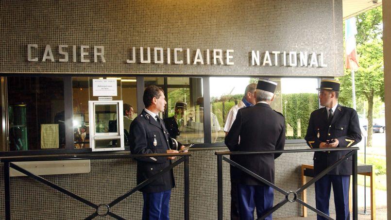 casier judiciaire d'une personne