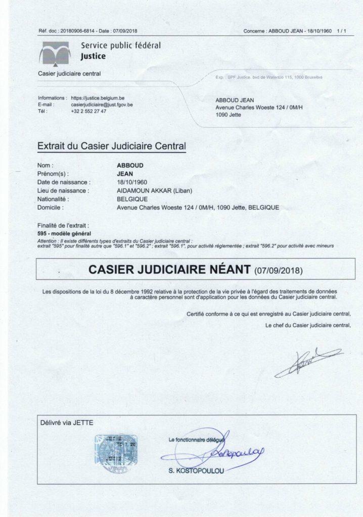 casier judiciaire modele 596-2