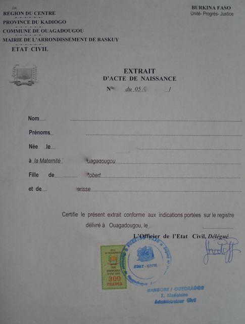 demande casier judiciaire burkina faso