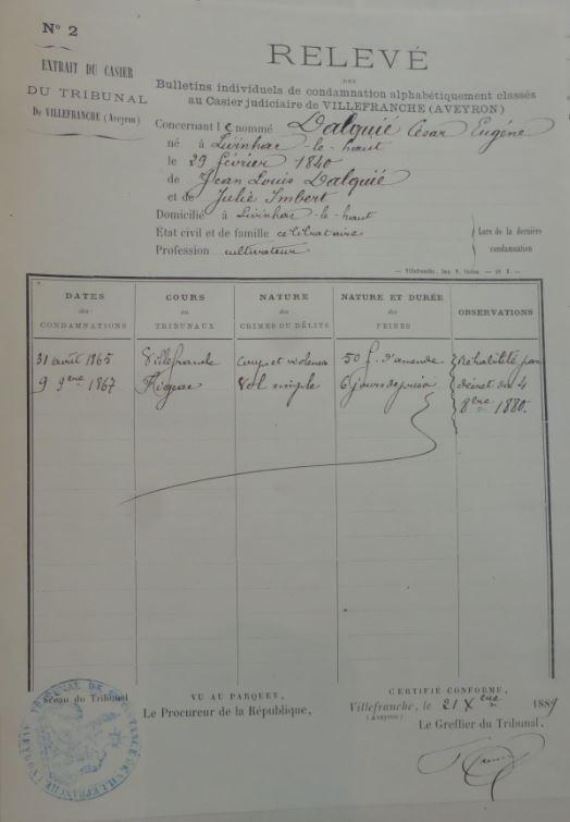 extrait casier judiciaire 2 et 3