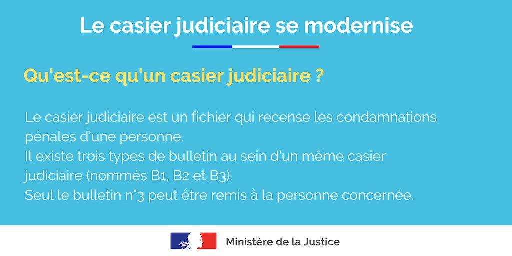 extrait casier judiciaire justice.gouv
