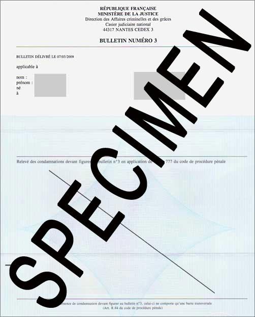 extrait casier judiciaire pour employeur